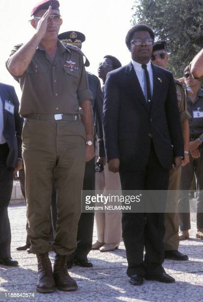 Samuel Doe Président du Liberia 22 août 1983 Jérusalem Israël