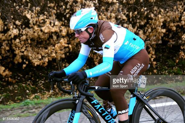 Samuel Dumoulin of Ag2r la Mondiale during Stage 2 of Etoile de Besseges from Nimes to Generac on February 1 2018 in Generac France