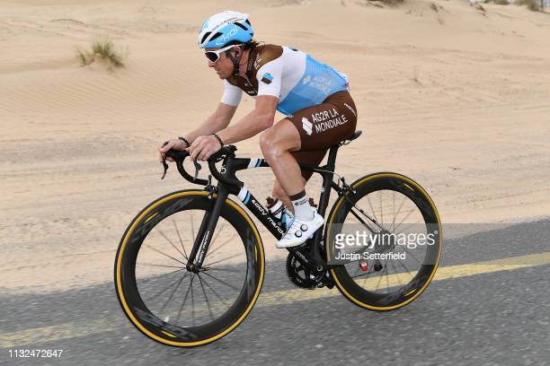 Samuel Dumoulin of France Team AG2R La Mondiale / during the 5th UAE Tour 2019 Stage 4 a 197km stage from Palm Jumeirah Dubai to Hatta Dam 419m /...