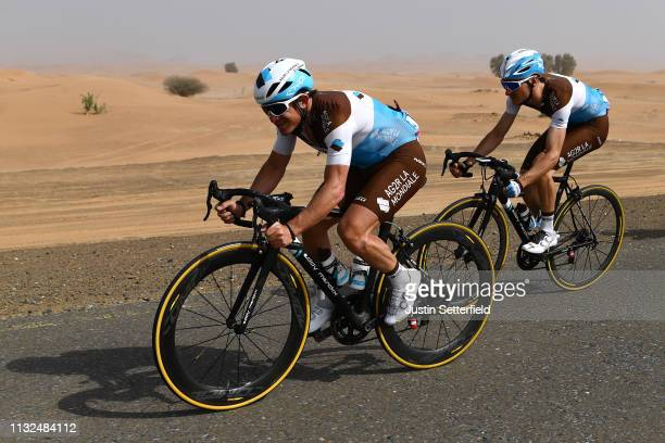 Samuel Dumoulin of France Team AG2R La Mondiale / Quentin Jauregui of France Team AG2R La Mondiale / during the 5th UAE Tour 2019 Stage 4 a 197km...