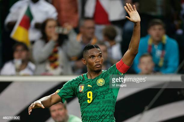 Samuel Eto o of Cameroon during the Frendly match between Germany and Cameroon at BorussiaPark on June 01 2014 in Munchengladbach Germany