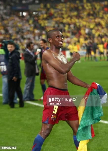 Samuel ETOO Fc Barcelone / Arsenal Finale de la Ligue des Champions Stade de France Paris