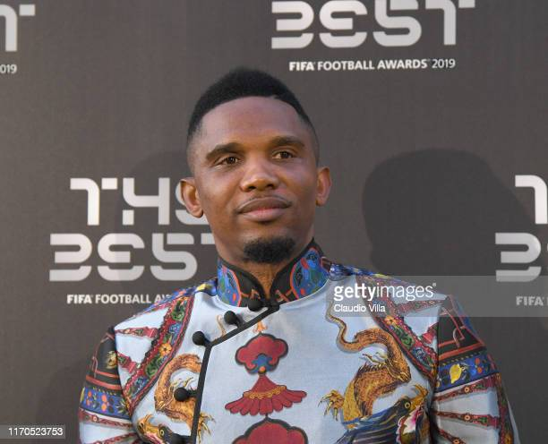 Samuel Eto'o attends The Best FIFA Football Awards 2019 at the Teatro Alla Scala on September 23, 2019 in Milan, Italy.