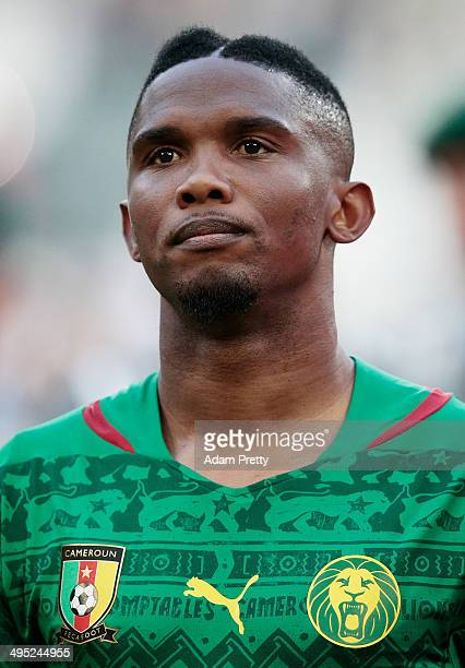Samuel Eto'o of Cameroon before the International Friendly match between Germany and Cameroon at Borussia Park Stadium on June 1 2014 in...
