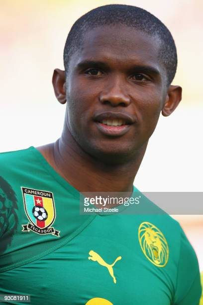 Samuel Eto'o of Cameroon during the Morocco v Cameroon FIFA2010 World Cup Group A qualifying match at the Complexe Sportif on November 14 2009 in Fes...