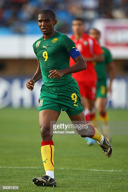 Samuel Eto'o of Cameroon during the Morocco v Cameroon FIFA2010 World Cup Group A qualifying match at the Complexe Sportif on November 14, 2009 in...