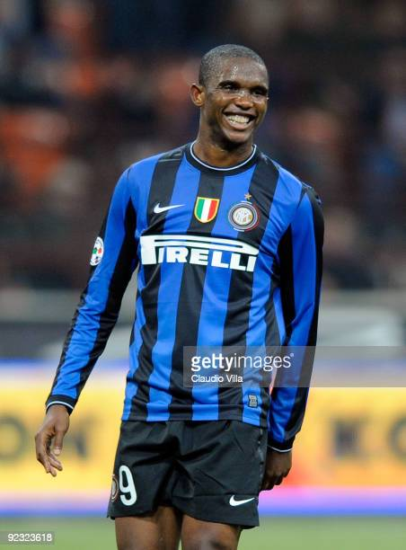 Samuel Eto'o of FC Internazionale Milano during the Serie A match between Inter Milan and Catania Calcio at Stadio Giuseppe Meazza on October 24 2009...