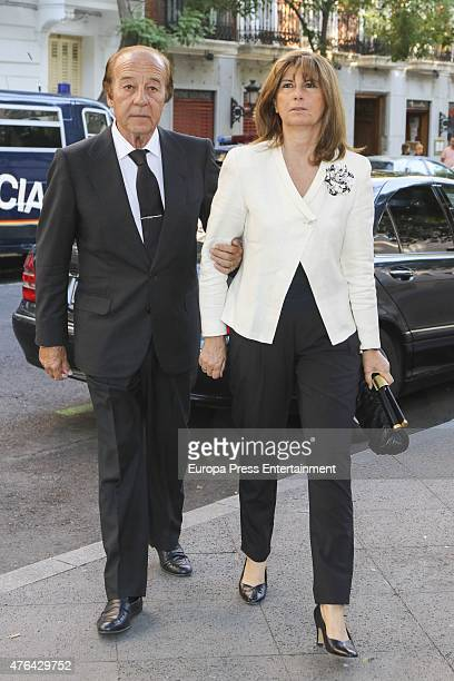 Samuel Flores and Isabel Santos attend the memorial service for Prince Kardam of Bulgaria at San Jeronimo el Real church on June 8 2015 in Madrid...