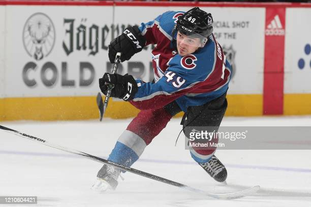 Samuel Girard of the Colorado Avalanche skates against the Anaheim Ducks at Pepsi Center on March 04, 2020 in Denver, Colorado.