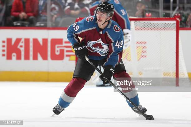 Samuel Girard of the Colorado Avalanche skates against the Florida Panthers at Pepsi Center on October 30, 2019 in Denver, Colorado. The Panthers...