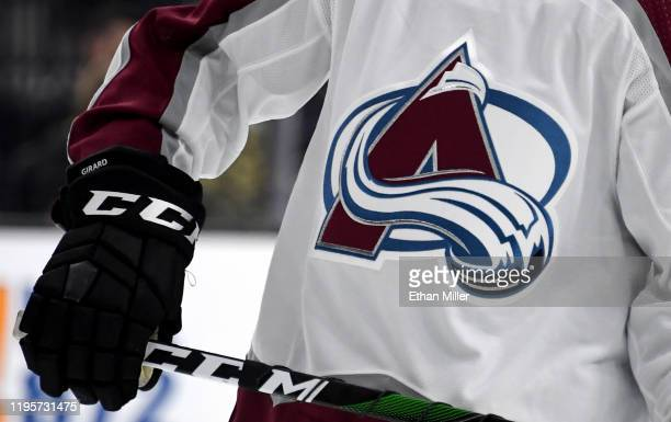 Samuel Girard of the Colorado Avalanche skates on the ice during a game against the Vegas Golden Knights at TMobile Arena on December 23 2019 in Las...