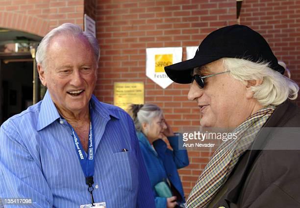 Samuel Goldwyn Jr. And Bertrand Tavernier during 33rd Telluride Film Festival - Camp Telluride Group at Opera House Courtyard in Telluride, Colorado,...