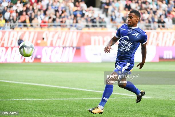 Samuel Grandsir of Troyes during the Ligue 1 match between Troyes Estac and FC Nantes at Stade de l'Aube on August 19 2017 in Troyes