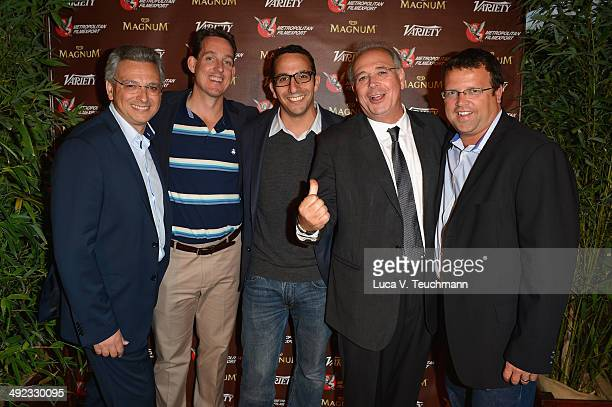 Samuel Hadida Bryan Jeffrey Lacour Jason Feuerstein Victor Hadida and Anthony Beaudoin attend the Metropolitan Filmexport 35th Anniversary Party at...