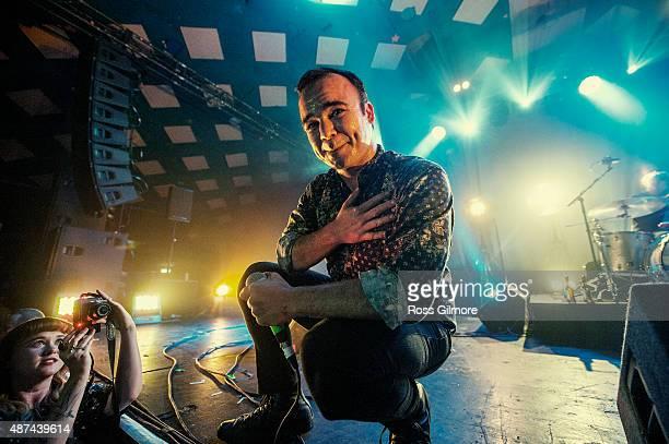 Samuel Herring of Future Islands performs at Barrowlands Ballroom on September 9 2015 in Glasgow Scotland