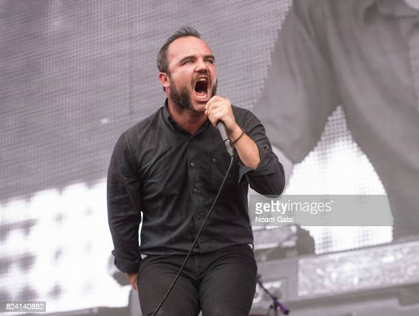 Samuel Herring of Future Islands performs during 2017 Panorama Music Festival Day 1 at Randall's Island on July 28 2017 in New York City