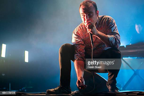 Samuel Herring of Future Islands performs on Day 2 of Flow Festival on August 15 2015 in Helsinki Finland