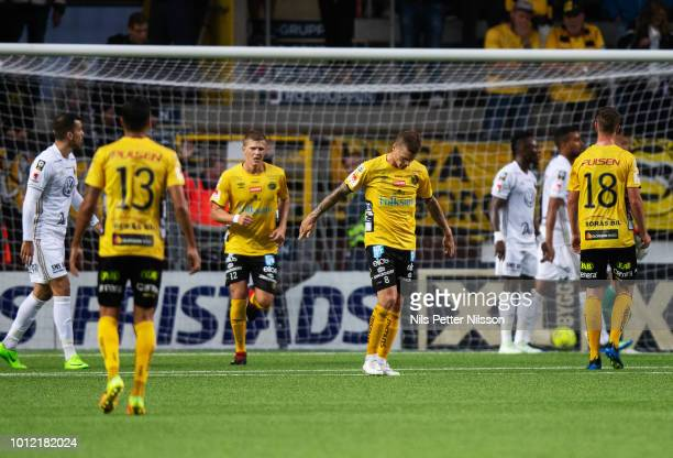 Samuel Holmen of IF Elfsborg dejected during the Allsvenskan match between IF Elfsborg and Ostersunds FK at Boras Arena on August 6 2018 in Boras...