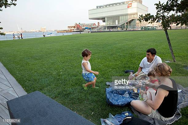 Samuel Hurtado Britta Hiester and their children picnic near the ICA in South Boston MA on Thursday September 2 2010 This is for a story about how...