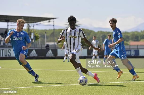 Samuel Iling Junior of Juventus during the Primavera 1 TIM match between Juventus U19 and Empoli FC U19 at Juventus Center Vinovo on May 05, 2021 in...