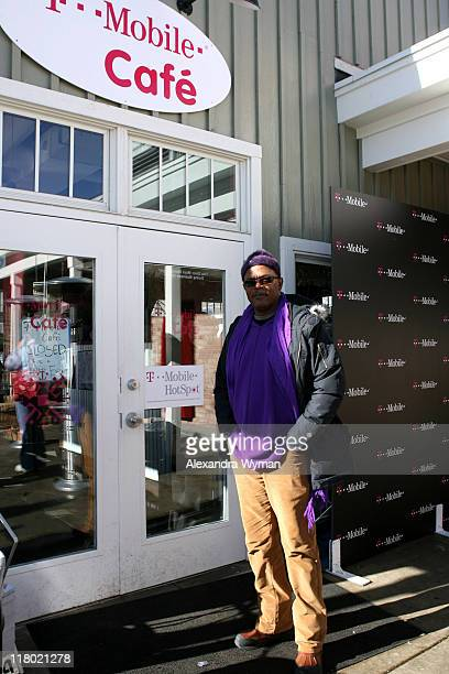 Samuel Jackson during 2007 Park City - T-Mobile Cafe at Village at the Lift - Day 7 at T-Mobile Cafe in Park City, Utah, United States.