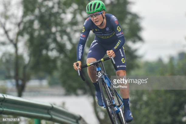 Samuel Jenner from Mitchelton Scott team during the fourth stage of the 2017 Tour of China 1 the 33 km Chenghu Jintang individual time trial On...