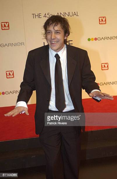 Samuel Johnson arriving on the red carpet for the 45th Annual TV Week Logie Awards 2003 held at the Crown Casino Melbourne Australia