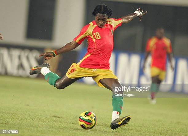 Samuel Johnson during the quater final AFCON match between Ivory Coast and Guinea held February 3 2008 at the Sekondi Stadium in SekondiTakoradi Ghana