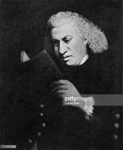 Samuel Johnson portrait After the portrait painted by Miss Frances Reynolds in 1783 English essayist biographer lexicographer and critic of English...