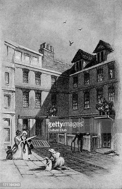 Samuel Johnson's house in Johnson Court Fleet Street He lived here from 1765 to 1776 English essayist biographer lexicographer and critic of English...