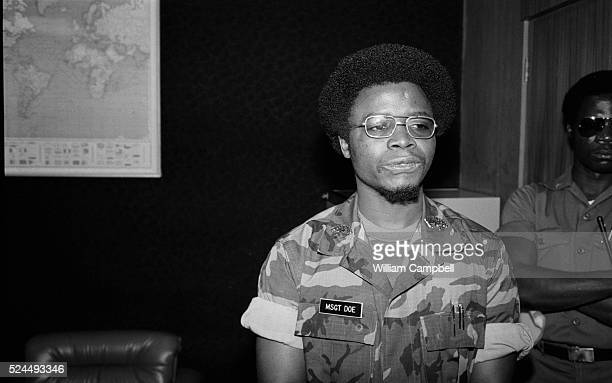 Samuel K Doe became Head of State after leading the April 12 1980 coup d'etat in Monrovia against William Tolbert