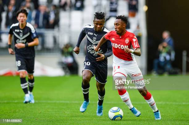 Samuel KALU of Bordeaux and Gelson MARTINS of Monaco during the French Ligue 1 Football match between Bordeaux and Monaco on November 24, 2019 in...