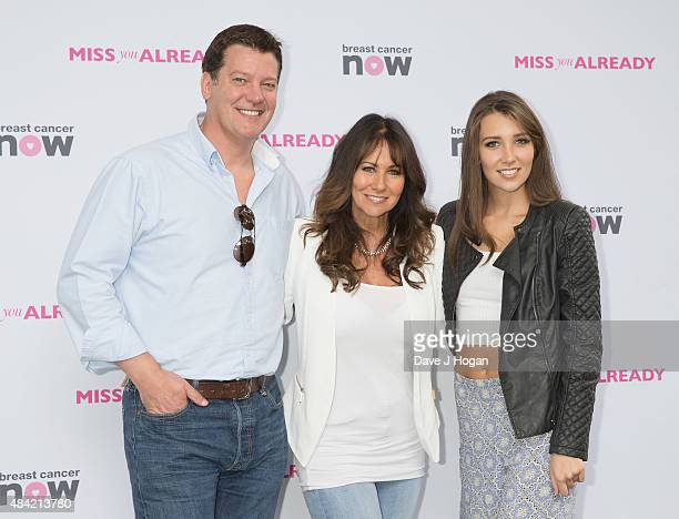 Samuel KaneLinda Lusardi and Lucy Anne Lusardi arrives at Miss You Already Pink Picnic at Manchester Square Gardens on August 16 2015 in London...