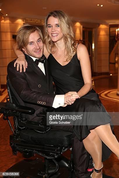 Samuel Koch and his wife Sarah Elena Koch during the 10th Audi Generation Award 2016 at Hotel Bayerischer Hof on December 7 2016 in Munich Germany