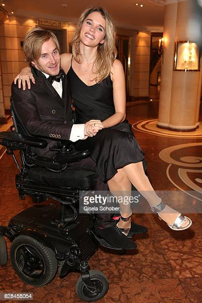 Samuel Koch and his wife Sarah Koch during the 10th Audi Generation Award 2016 at Hotel Bayerischer Hof on December 7 2016 in Munich Germany