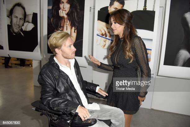 Samuel Koch and Verona Pooth attend the 'Gabo Fame presented by Lumas' Exhibition Opening at HumboldtBox on September 9 2017 in Berlin Germany