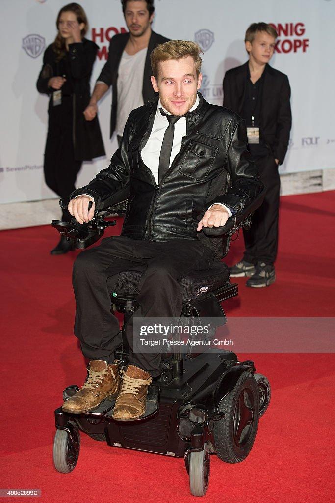Samuel Koch attends the 'Honig im Kopf' Premiere at CineStar on December 15, 2014 in Berlin, Germany.