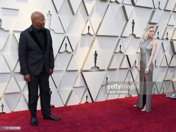 Samuel L Jackson and Brie Larson attend the 91st Annual Academy Awards at Hollywood and Highland on February 24 2019 in Hollywood California