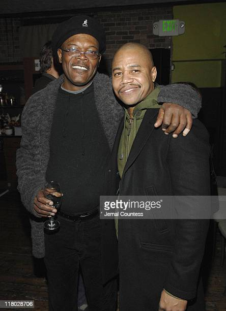 Samuel L Jackson and Cuba Gooding Jr during 2007 Sundance Film Festival The Last Mimzy Afterparty and New Line Cinema 40th Anniversary Party at Claim...