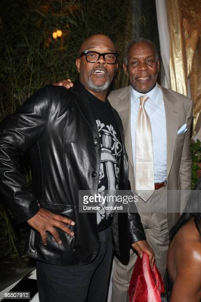 Samuel L Jackson and Danny Glover attend the fourth day of the 14th Annual Capri Hollywood International Film Festival on December 30 2009 in Capri...