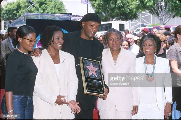 Samuel L Jackson and family during Samuel L Jackson Honored with a Star on the Hollywood Walk of Fame at Hollywood Boulevard in Hollywood California...