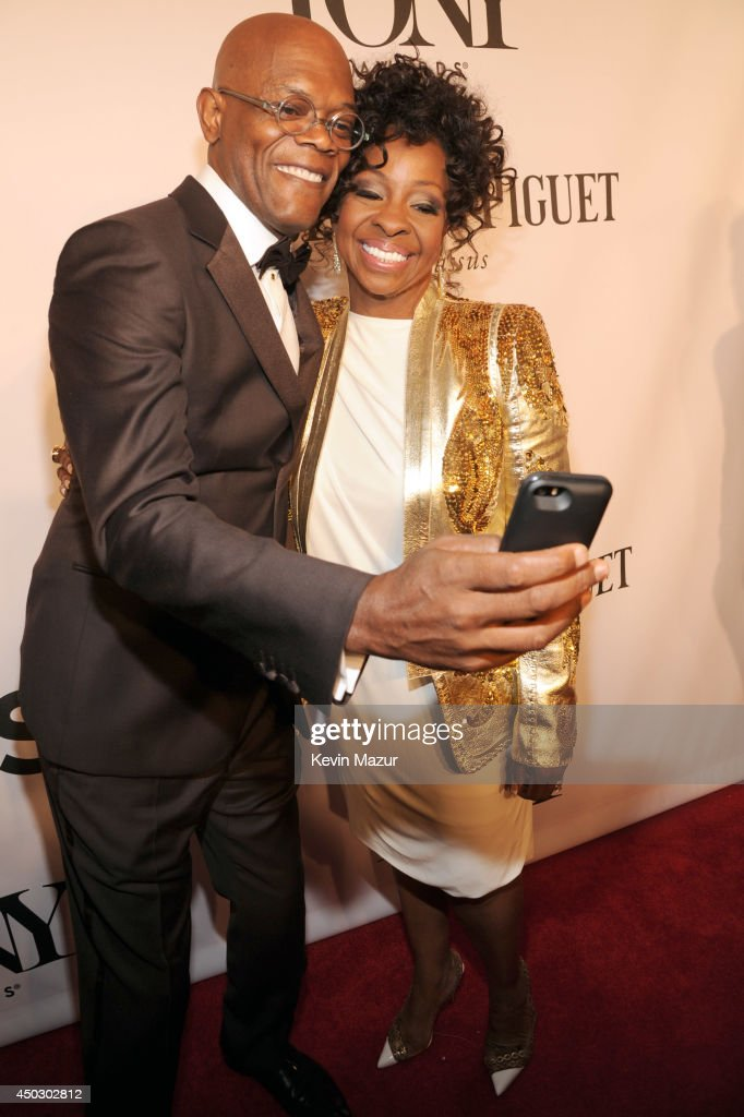 Samuel L. Jackson and Gladys Knight attend the 68th Annual Tony Awards at Radio City Music Hall on June 8, 2014 in New York City.