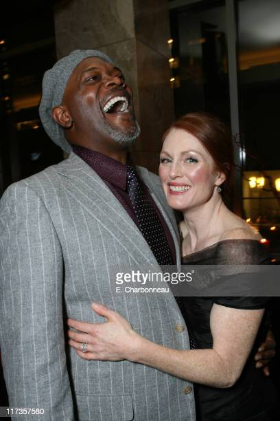 Samuel L Jackson and Julianne Moore during Columbia Pictures and Revolution Studios' World Premiere of 'Freedomland' at Loews Lincoln Square Theater...