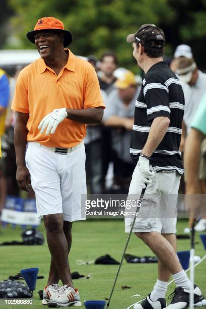Samuel L. Jackson and Kevin Dillon at the RBC Canadian Open on July 19, 2010 in Toronto, Ontario, Canada.