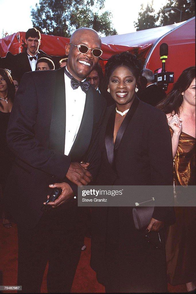 Samuel L. Jackson and LaTanya Richardson at the Shrine Auditorium in Los Angeles, California