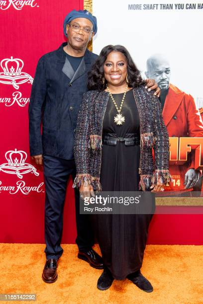 """Samuel L. Jackson and LaTanya Richardson attend the """"Shaft"""" New York Premiere at AMC Lincoln Square Theater on June 10, 2019 in New York City."""