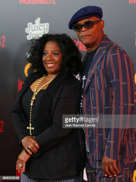 Samuel L Jackson and LaTanya Richardson attend the World Premiere of Disney and Pixar's 'Incredibles 2' held on June 5 2018 in Los Angeles California