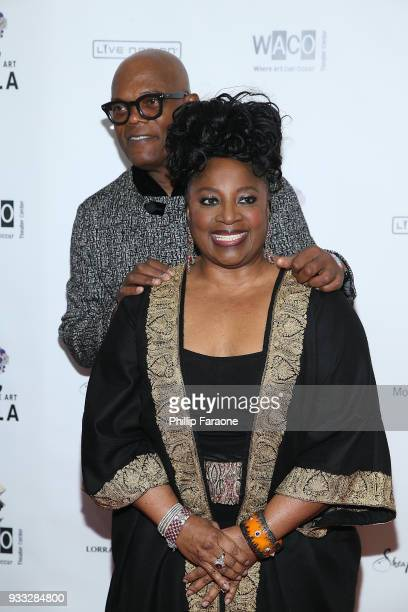 Samuel L Jackson and LaTanya Richardson attend WACO Theater's 2nd annual Wearable Art Gala on March 17 2018 in Los Angeles California