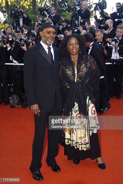 Samuel L Jackson and LaTanya Richardson during 2006 Cannes Film Festival Volver Premiere at Palais du Festival in Cannes France