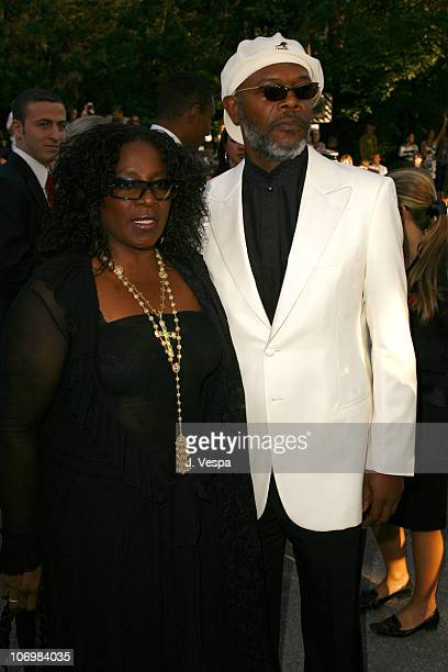 Samuel L Jackson and LaTanya Richardson during amfAR Cinema Against AIDS Benefit in Cannes Presented by Bold Films Palisades Pictures and The...